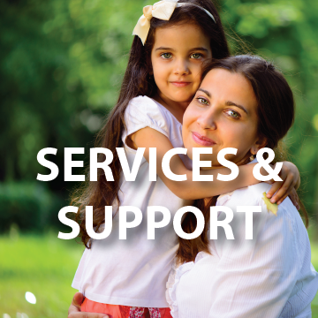 Services And Support Page Button