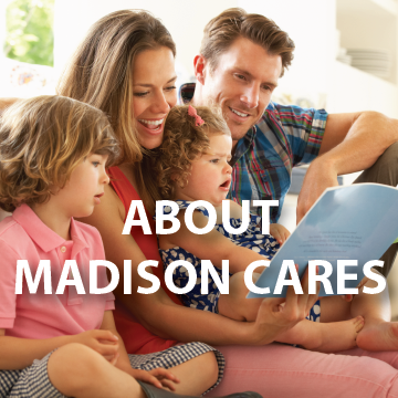 About Madison Cares Page Button