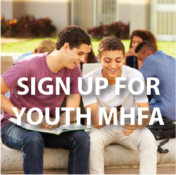 Sign Up For Youth Mental Health First Aid Page Button